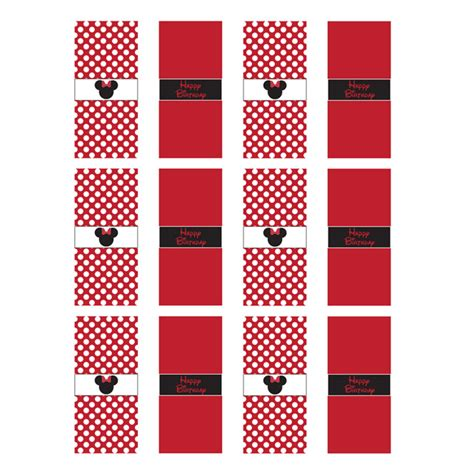 miniature bar wrappers template free minnie mouse free printables minnie mouse printable mini