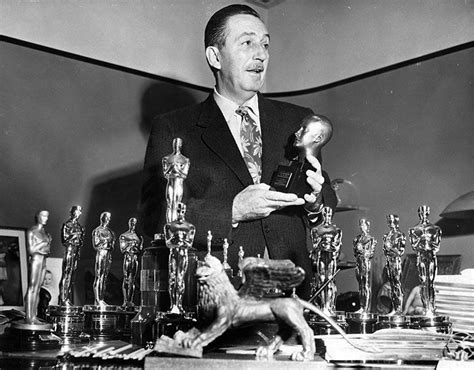disney film won most oscars walt disney shown in his burbank office with his numerous