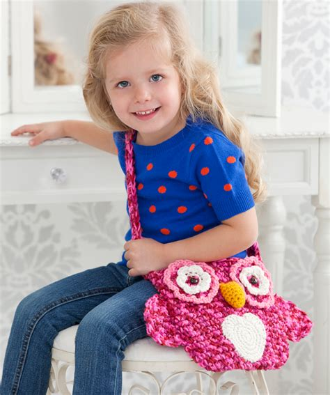 crochet bag pattern red heart wise owl tote bag crochet pattern red heart