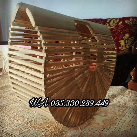 kerajinan souvenir dari kayu limbah kerajinan tas bambu unik custom 2017