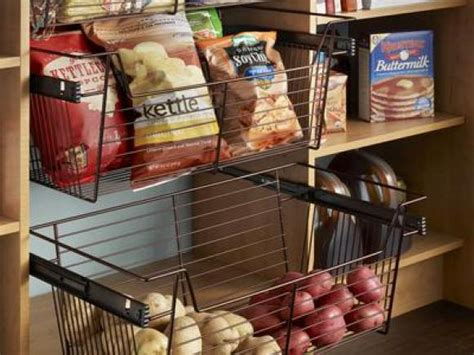Sliding Wire Baskets Pantry by A Closet That Fits Your Needs Home Remodeling Ideas