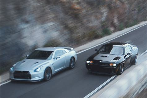 nissan gtr skyline fast and furious fast and furious 6 nissan gt r and dodge challenger photo 1