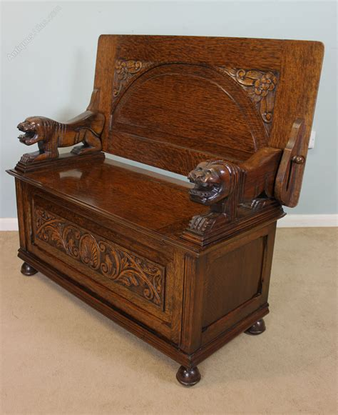 antique monks bench antique oak monks bench hall seat settle antiques atlas
