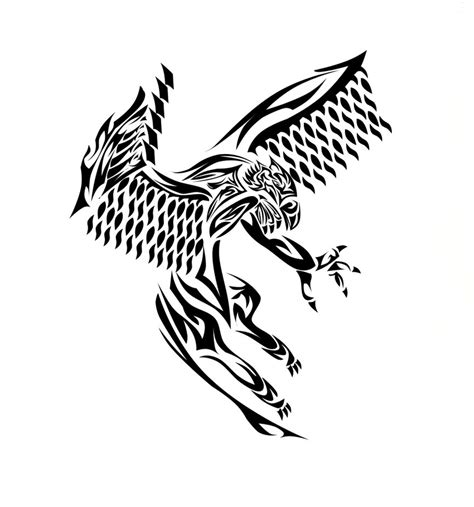 griffin tribal tattoo happy tribal griffin design by wildcpiritwolf