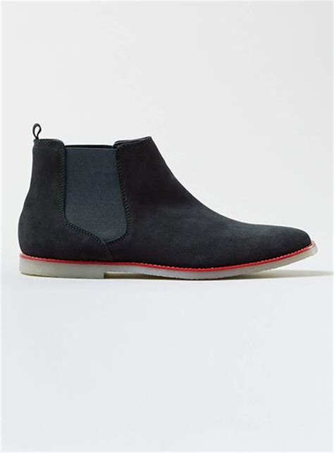 topman navy suede chelsea boots in blue for lyst