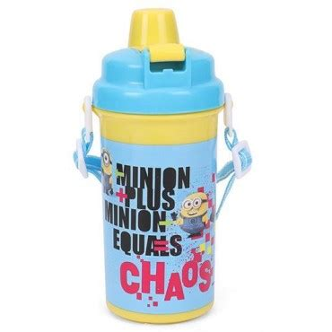 Minion Bottle 500 Ml by Buy Minions Equals To Chaos Water Bottle Yellow 500 Ml