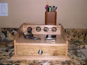 Homemade charging station home office guest room midcentury desc