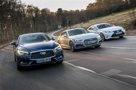 infiniti q60 vs lexus rc vs audi a5 pictures auto express