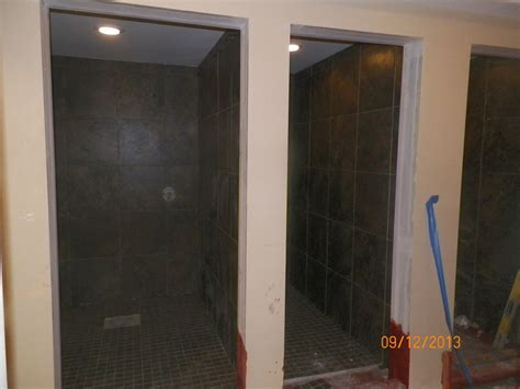 locker room shower stalls llanerch s clubhouse renovation progression