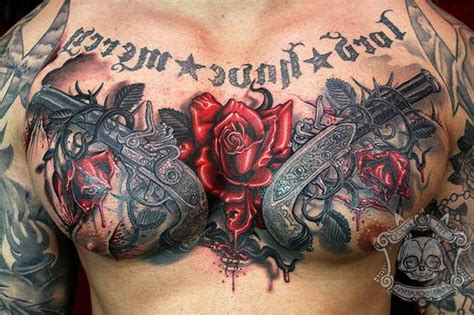 derrick rose chest tattoos guns and roses chest www pixshark images