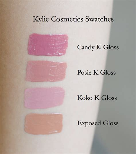 Cosmetics Exposed Gloss posie k k koko k exposed gloss swatches