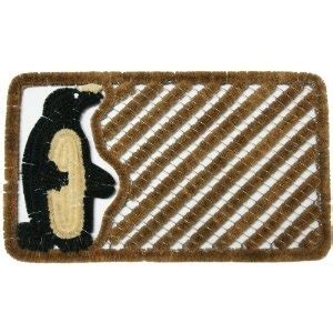 penguin rubber st quot penguin quot coco boot brush mat penguin fabric
