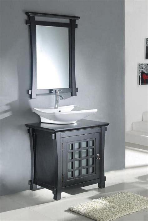 30 Inch Modern Vessel Sink Bathroom Vanity in Dark Walnut