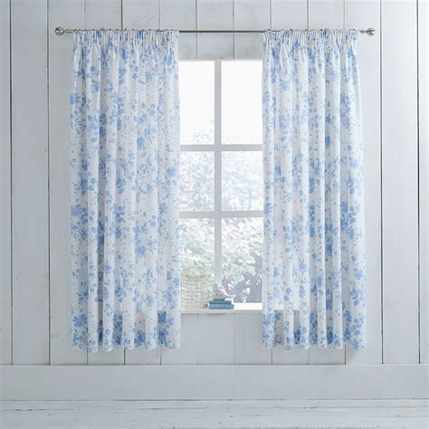 toile curtains blue blue toile pencil pleat curtains charlotte thomas