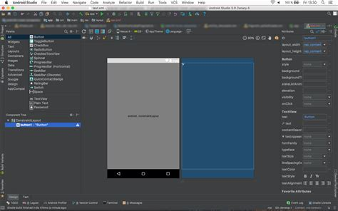 change layout in android studio android studio 3 constraint layout editor broken stack