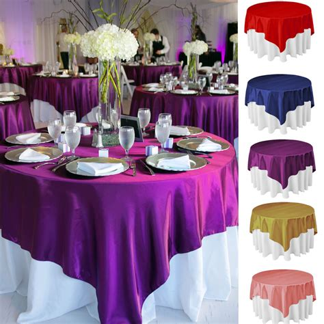 Wedding Tablecloths by 10pcs Square Satin Tablecloth Table Cover For Banquet