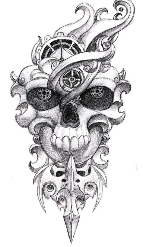 skull tattoo design 1 by pseudodog on deviantart