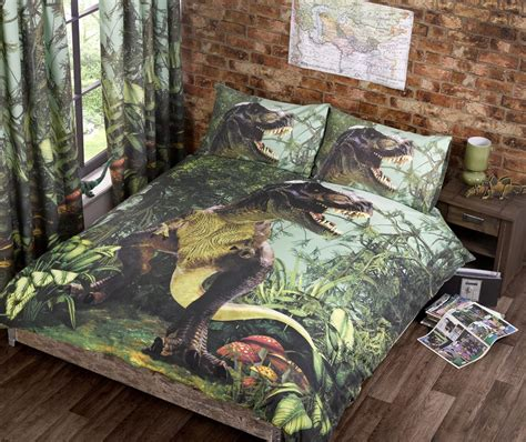 dinosaurs curtains and bedding jurassic world bedding trend t rex dinosaur quilt duvet