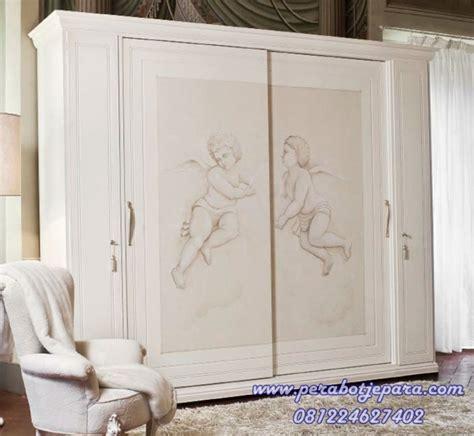 Lemari Pakaian Minimalis Putih Model Mewah desain model wadrobe lemari pakaian pintu sliding