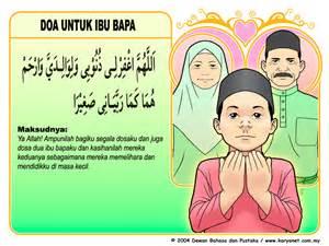 doa untuk ibubapa mari belajar bahasa arab