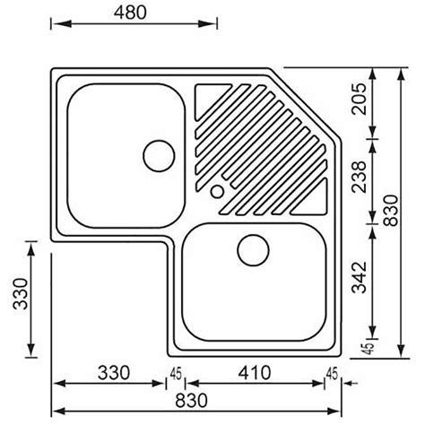 misure lavello lavello da incasso cm ilaria 83x83 angolo 2v asmcasa