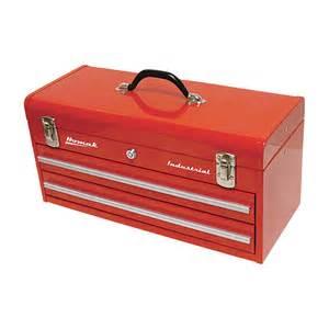 homak 20in industrial 2 drawer steel toolbox tool