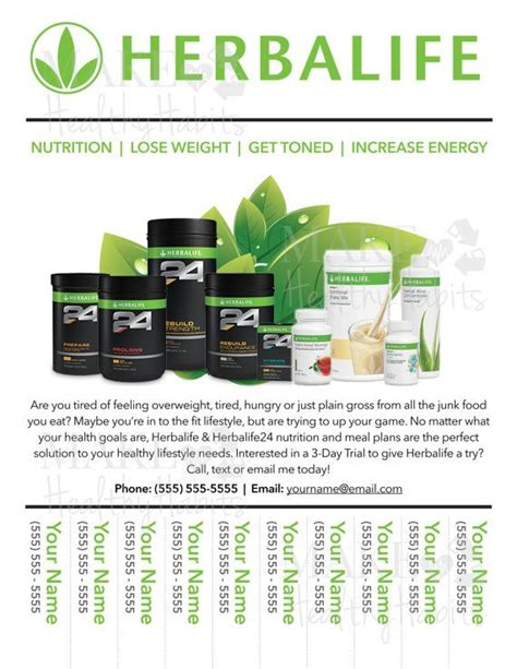 17 Best How To Build My Herbalife Business Images On Pinterest Herbalife Flyer Template