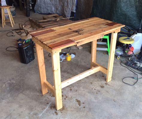 desk made from pallets pallet 7 steps with pictures