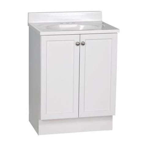 glacier bay bathroom vanity glacier bay nevada 24 in vanity in white with ab