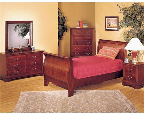 Acme Furniture Bedroom Set In Cherry Ac08670tset Acme Bedroom Furniture