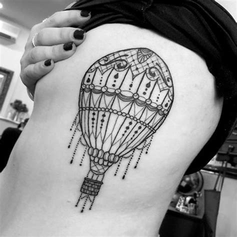small balloon tattoo 24 air balloon tattoos with uplifting meanings