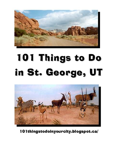 101 things to do 101 things to do in st george ut