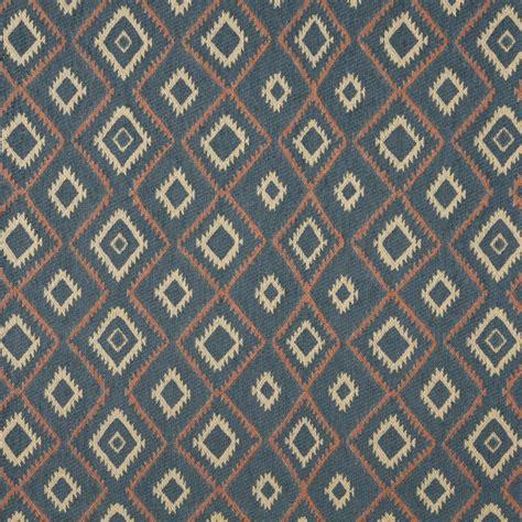 southwest upholstery j749 blue salmon and beige diamond southwest upholstery
