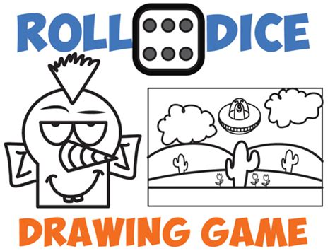 drawing games drawing games for kids roll the dice drawing game how