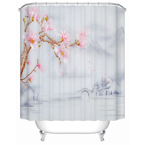 chinese shower curtain chinese style jiangnan style town flower shower high
