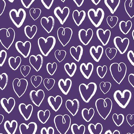fabric pattern love hearts deep purple hearts heart love pattern fabric