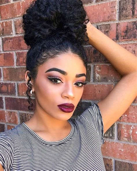 pics of black pretty big hair buns with added hair 27 updos for curly hair designs ideas hairstyles