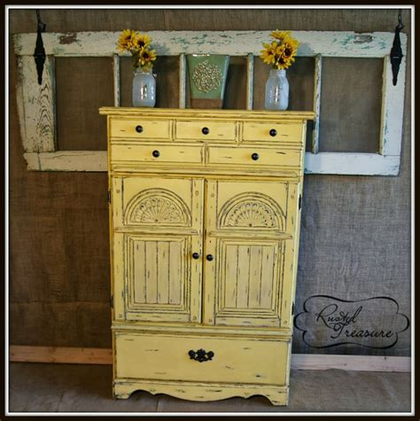 distressed armoires distressed yellow armoire furniture redo pinterest