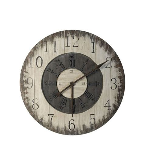 horloge murale metal and glass industrial style wall clock wadiga