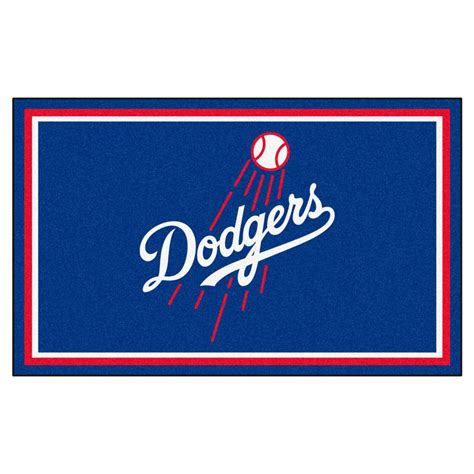 fanmats los angeles dodgers 4 ft x 6 ft area rug 7095