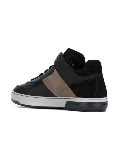 ferragamo sneaker lyst ferragamo sneakers in black for