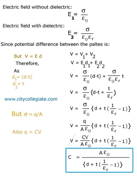 cylindrical capacitor derivation capacitance and dielectric partially filled capacitor
