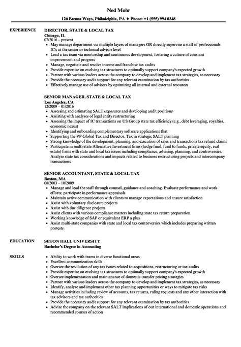 state resume format state local tax resume sles velvet
