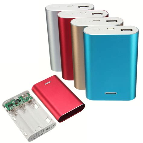 phone charging box 7800mah 5v 1a power bank case kit 3x 18650 battery charger