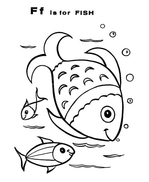 F Is For Fish Coloring Page Abc Alphabet Coloring Sheet F Is For Fish Honkingdonkey by F Is For Fish Coloring Page