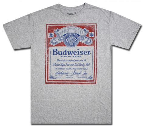 Tees Kaos T Shirt Budweiser budweiser t shirt basic tees shop