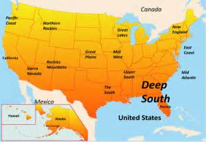 Deep South Usa Map by The Deep South Map Showing Attractions Amp Accommodation