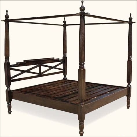 mission solid mango wood 4 post bed with canopy frame 1000 images about bedroom furniture on pinterest
