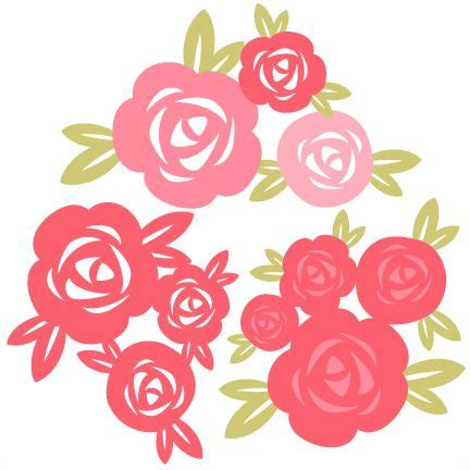 rose pattern clipart rose set svg cutting file for scrapbooking free svg cuts