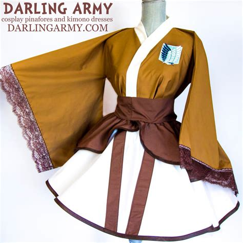 Survey Corps Anime attack on titan survey corps kimono dress by